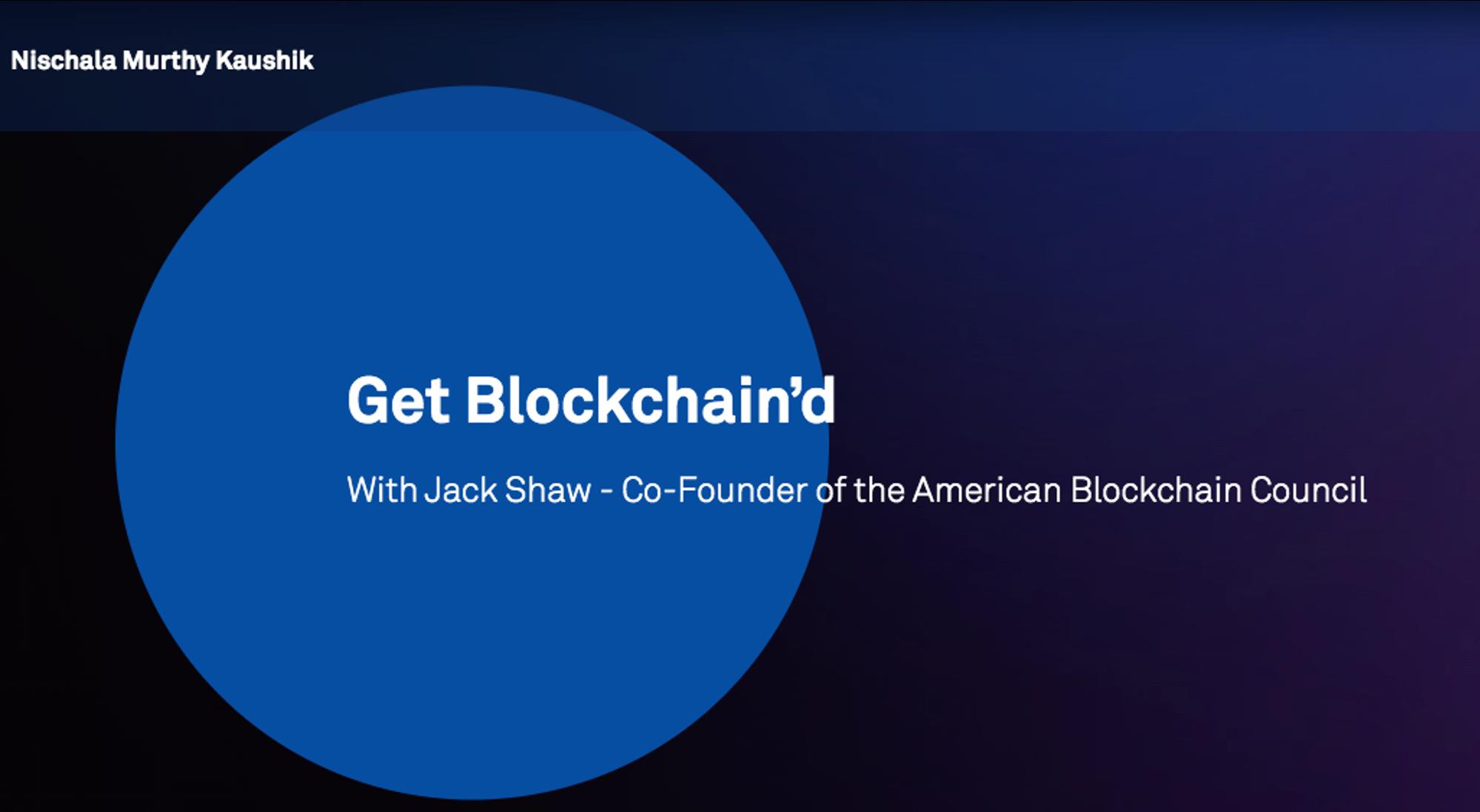 Get Blockchain'd