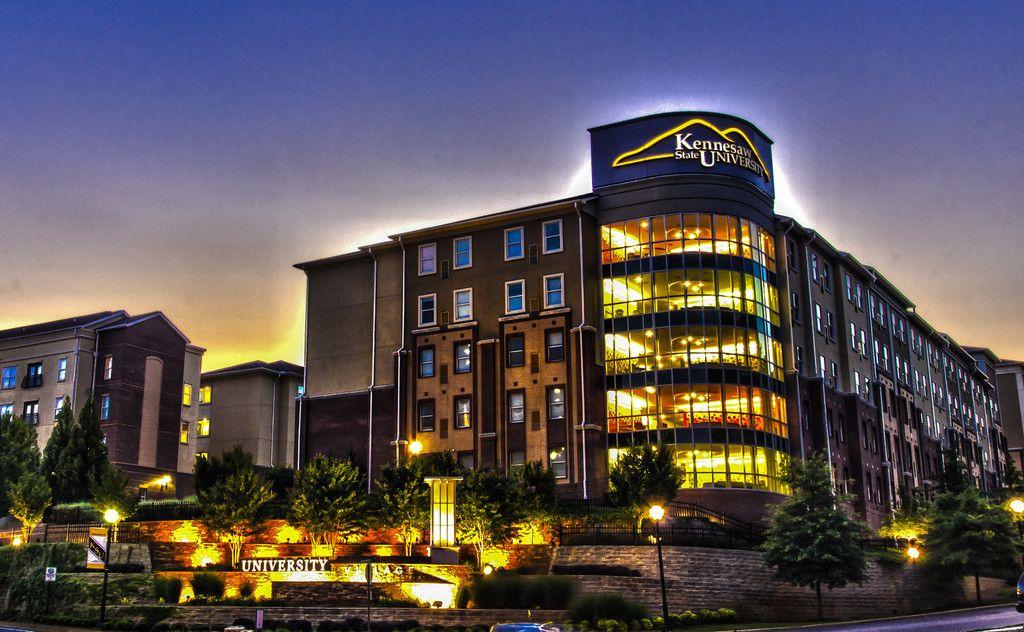 KSU campus at night