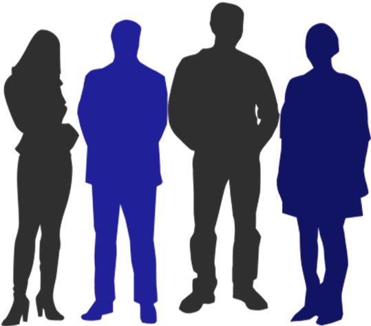 Silhouette of four people