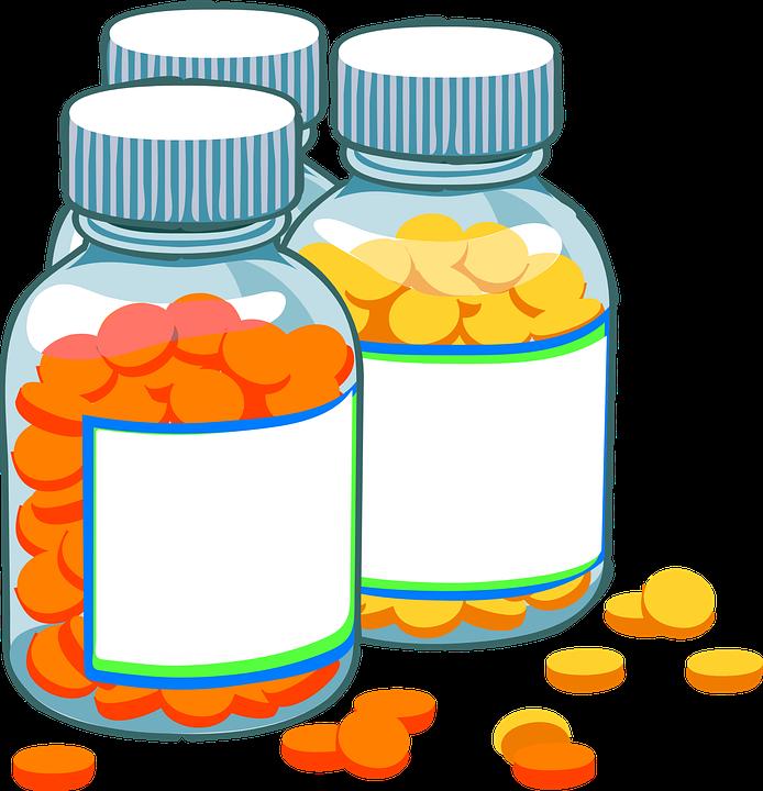 cartoon pill bottles image