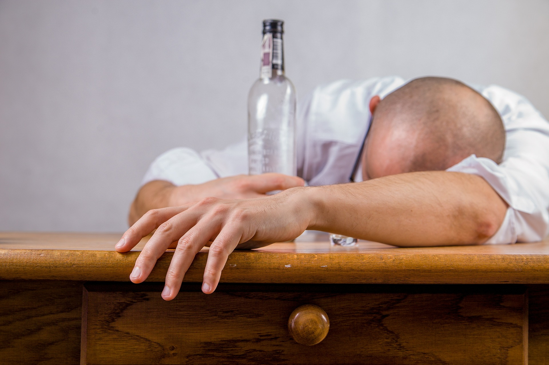 Man Passed Out Drunk Image