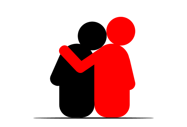 two figures embracing as an example of empathy