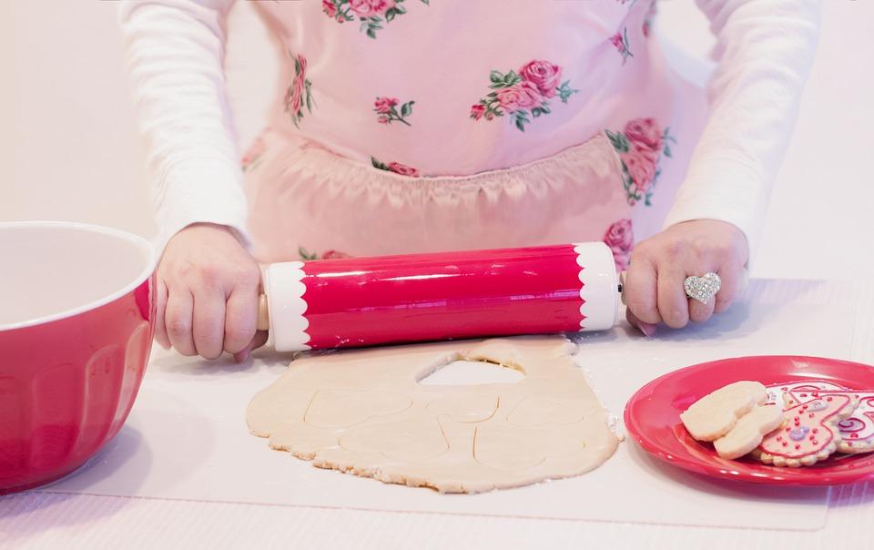 woman baking image