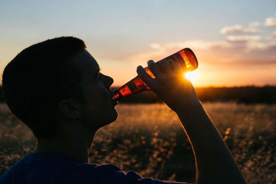 Man Drinking Beer Image