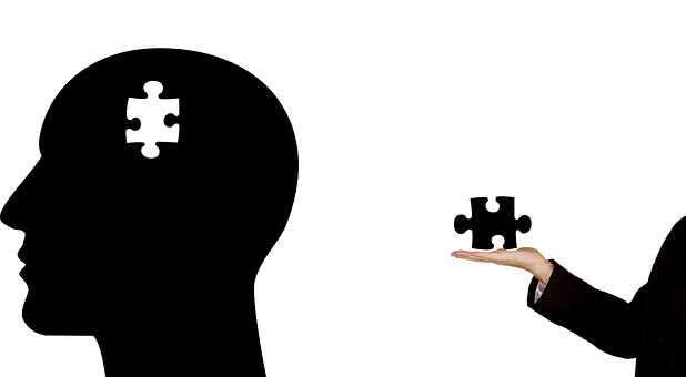 Puzzle Piece out of Head Image