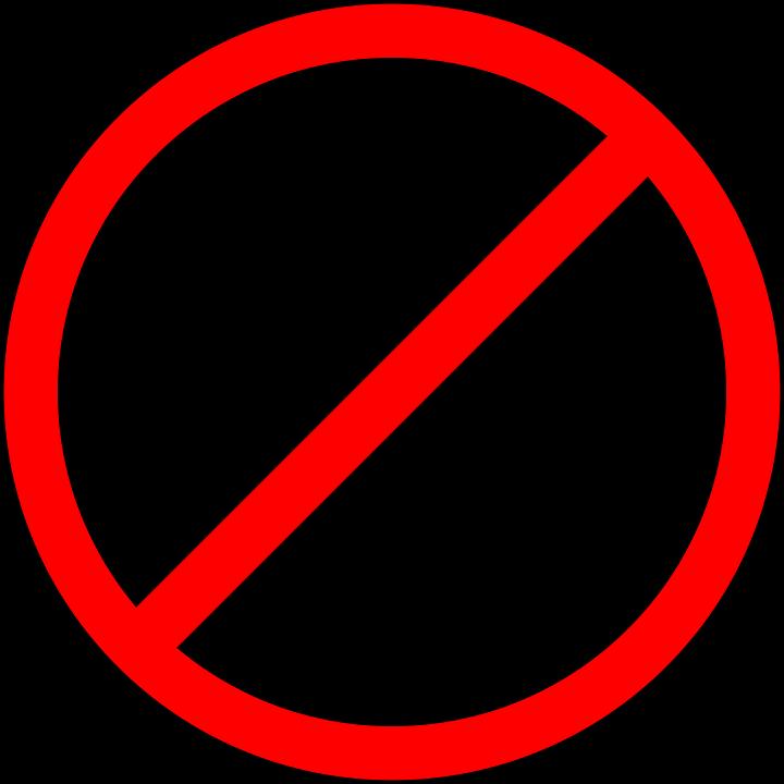 Prohibition sign image