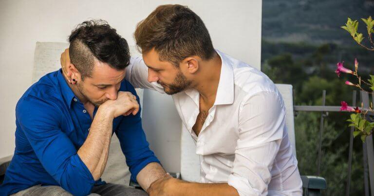 Man Consoling Partner Image
