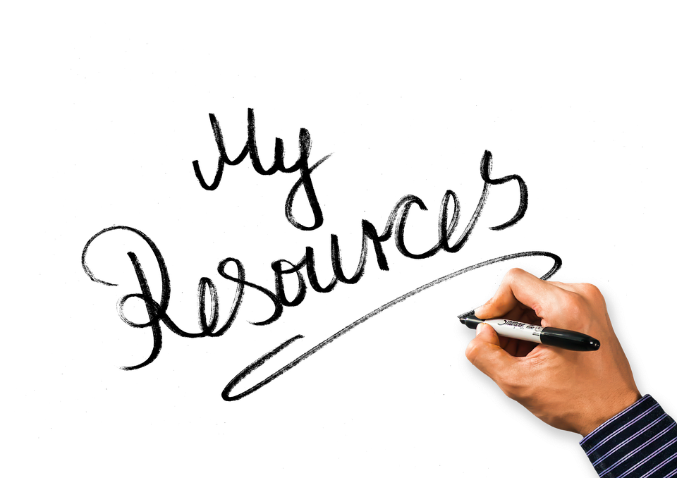 """Hand Writing """"My Resources"""" Image"""