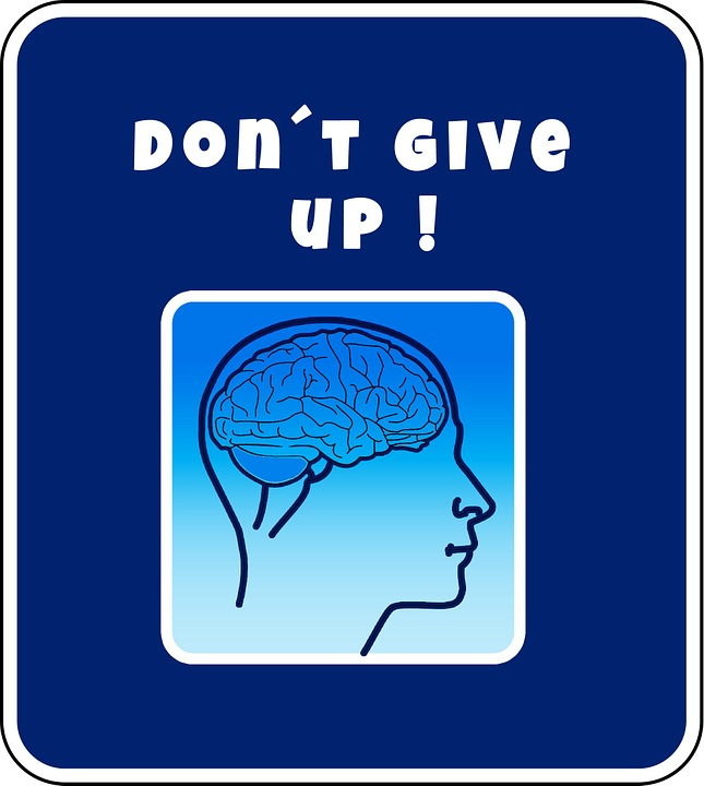 sign saying dont give up image