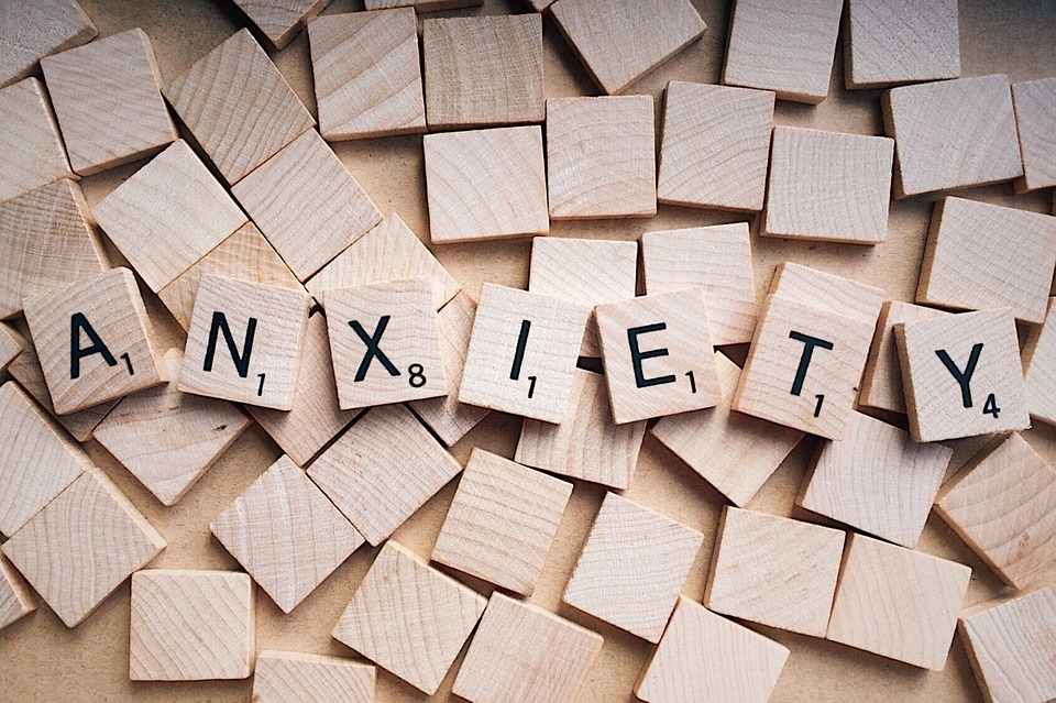 Scrabble Letters Spelling Anxiety Image