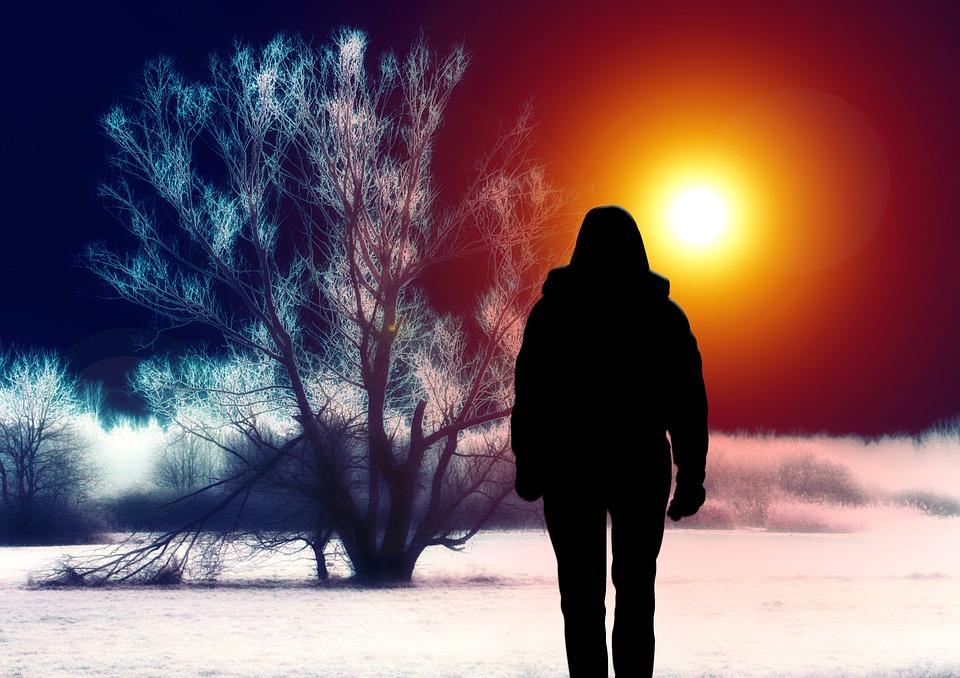 Walking into the Sunset Image