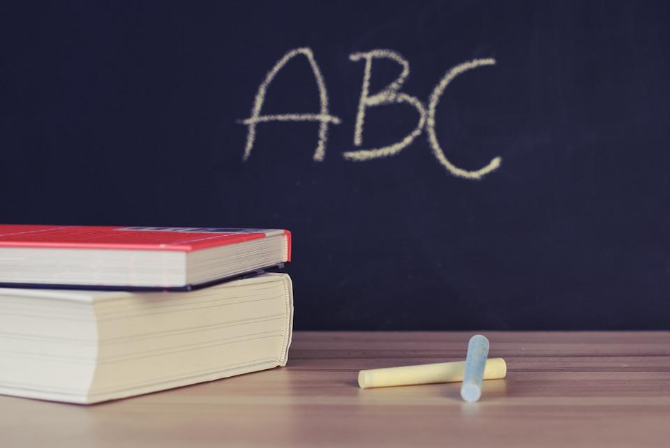 ABC Written on Chalkboard Image