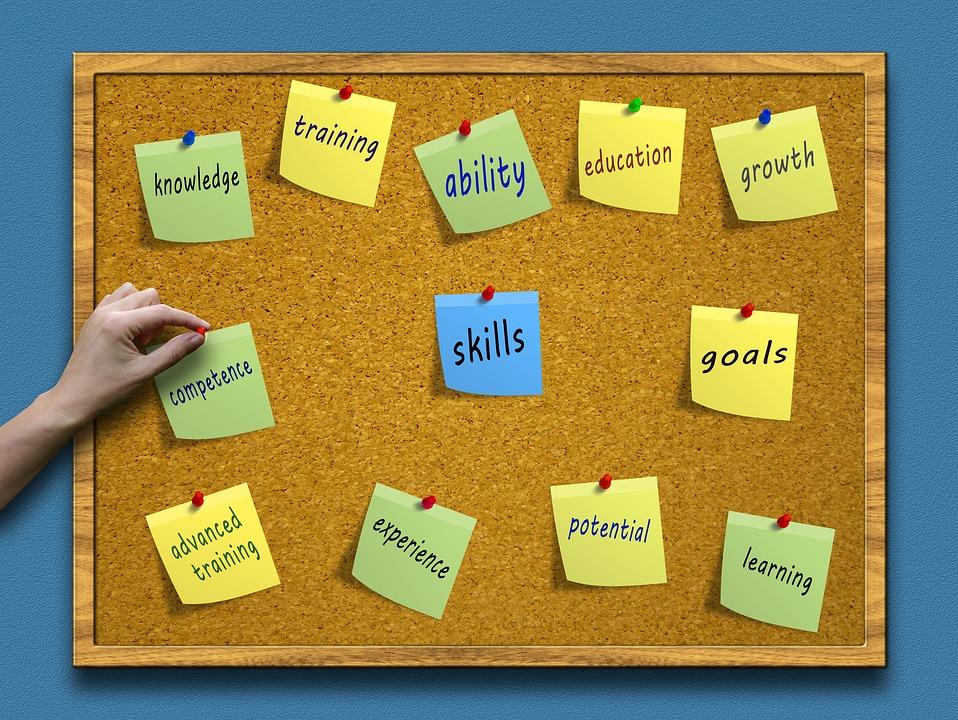 Skills Cork Board Image