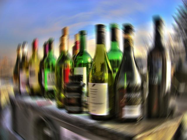 Blurred Liquor Bottles Image