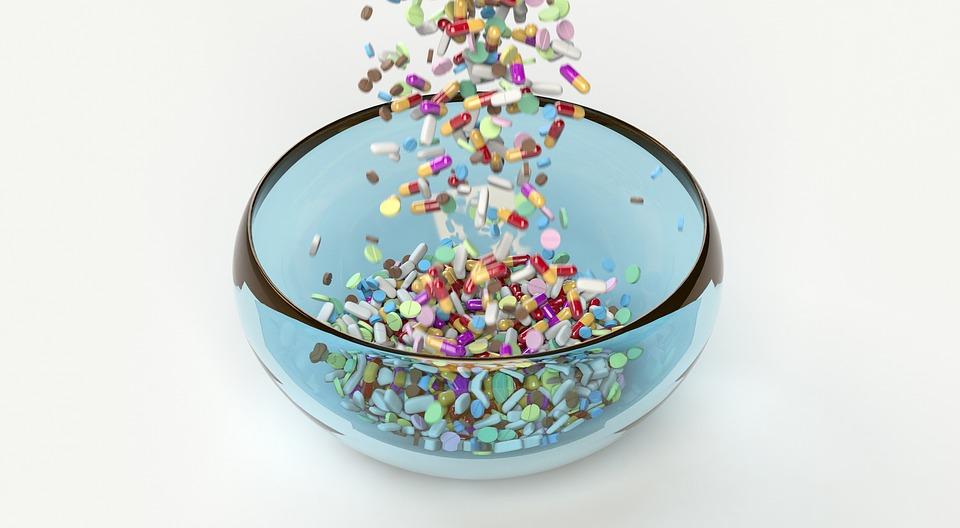 Bowl full of pills image
