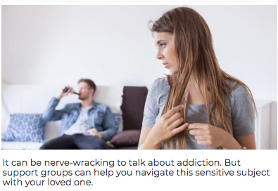It Can be nerve wracking to talk about addiction, but support groups can help you navigate this sensitive subject with your loved one image