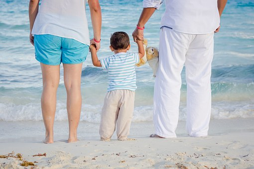 Family at the Beach Image