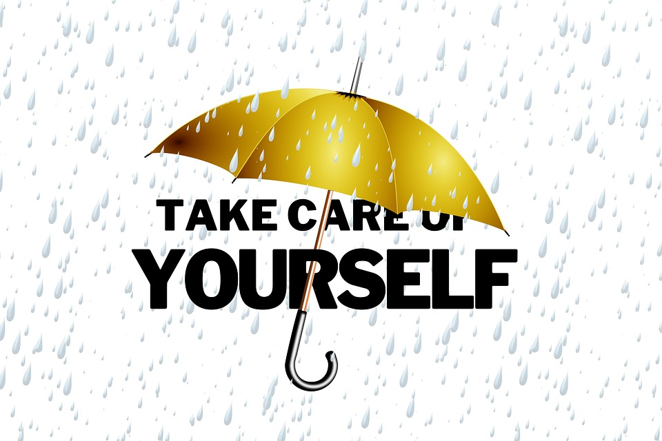 "Umbrella over the phrase ""Take Care of Yourself"" Image"