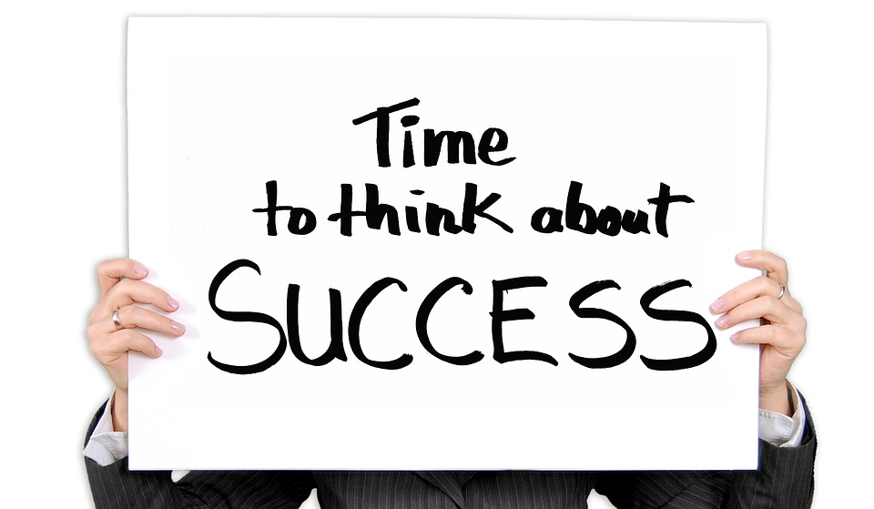 "Sign Saying ""Time to Think about Success"" Image"