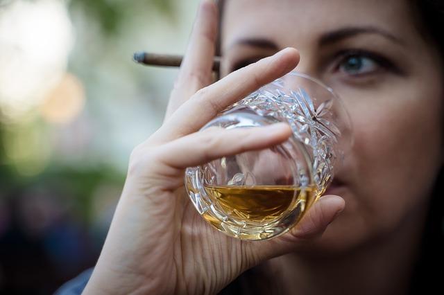 Woman Drinking Whiskey Image