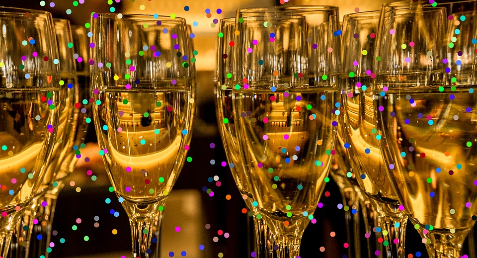 new year's champagne image