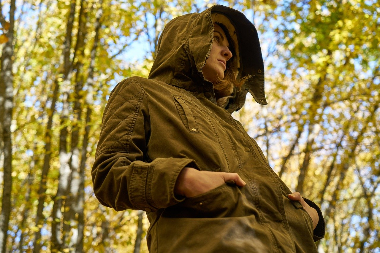 woman in the woods links to article