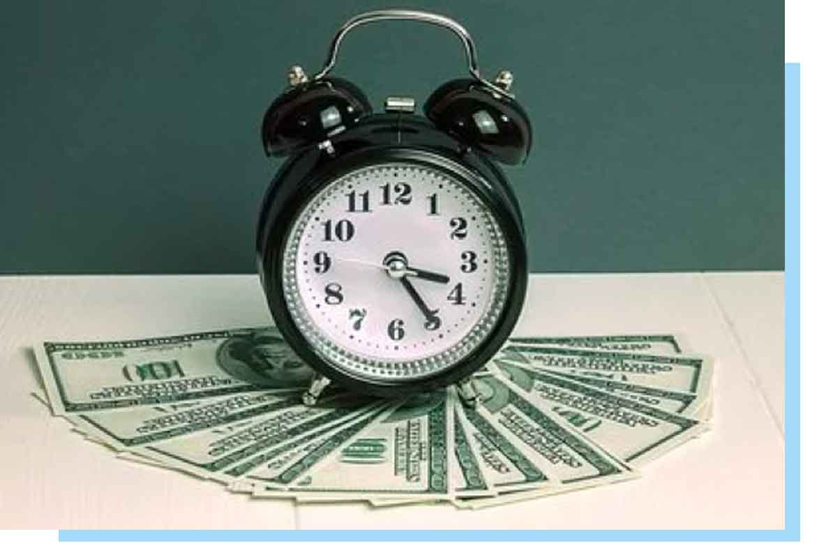 money under an alarm clock