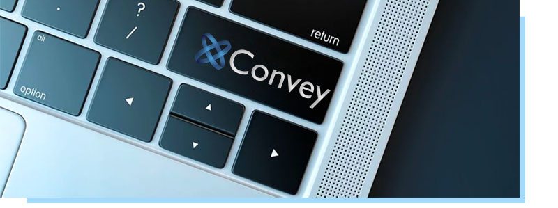 Convey logo on enter key