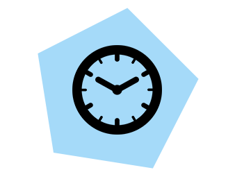 Saving time icon